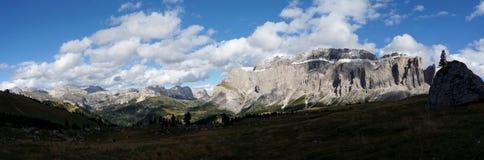 Vista panorâmica cênico maravilhosa nas dolomites Fotografia de Stock Royalty Free