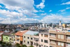 Vista panorâmica com o sol de Quito Equador Fotografia de Stock