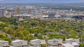 Vista panorâmica da baixa de Salt Lake City em Utá imagens de stock