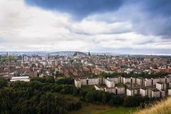 Vista panorâmica da cidade de Edimburgo em Escócia Imagens de Stock Royalty Free
