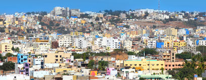 Vista panorâmica da cidade de Hyderabad Imagens de Stock