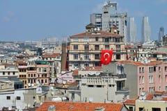 Vista panorâmica da cidade de Istambul Imagens de Stock Royalty Free