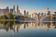 Vista panorâmica da cidade de Kuala Lumpur, Malásia imagens de stock