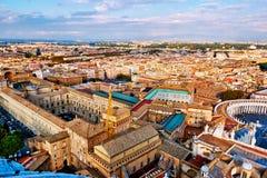 Vista panorâmica da cidade de Roma e dos museus do Vaticano imagem de stock royalty free