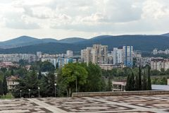 Vista panorâmica da cidade de Stara Zagora, Bulgária foto de stock