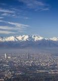 Vista panorâmica da cidade de Turin fotos de stock