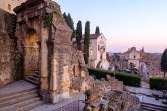 Vista panorâmica da cidade de Verona imagem de stock
