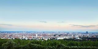 Vista panorâmica da cidade de Viena Áustria Imagens de Stock