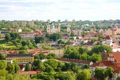 Vista panorâmica da cidade de Vilnius em Lituânia, Estados Bálticos, Europa fotos de stock royalty free