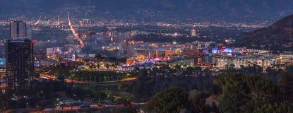 Vista panorâmica da cidade do estúdio, San Fernando Valley, Los Angeles, foto de stock royalty free