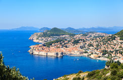 Vista panorâmica da cidade velha, Croácia de Dubrovnik Fotografia de Stock Royalty Free