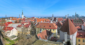 Vista panorâmica da cidade velha de Tallinn, Estônia Foto de Stock
