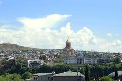 Vista panorâmica da cidade velha de Tbilisi, 2018 novos fotos de stock royalty free