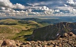 Vista panorâmica da cimeira do Mt Evans foto de stock royalty free