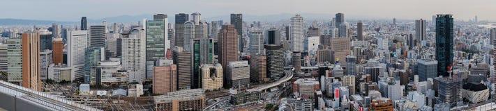 Vista panorâmica da construção do céu de Umeda Osaka, Japão 2017 fotos de stock