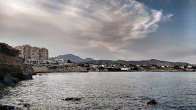 Vista panorâmica da costa de San Juan, Alicante foto de stock