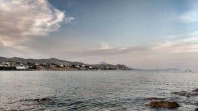 Vista panorâmica da costa de San Juan, Alicante fotos de stock