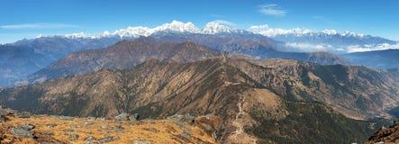 Vista panorâmica da escala de himalaya do pico de Pikey Imagens de Stock