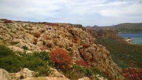 Vista panorâmica da ilha de Gramvousa imagens de stock royalty free