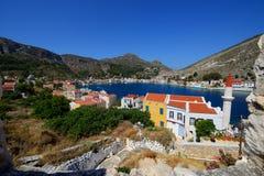 Vista panorâmica da ilha Grécia de Kastellorizo Imagens de Stock