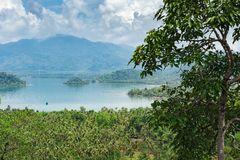 Vista panorâmica da ilha tropical fotos de stock