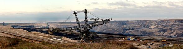 Vista panorâmica da mineração opencast em minha vizinhança imagem de stock royalty free