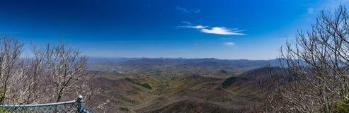Vista panorâmica da mola adiantada em Albert Mountain Foto de Stock