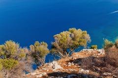 Vista panorâmica da montagem Pelegrino em Palermo, Sicília Italy imagem de stock