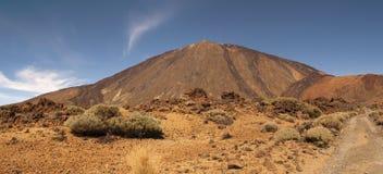 Vista panorâmica da montagem Teide imagem de stock