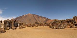 Vista panorâmica da montagem Teide fotos de stock