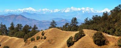 Vista panorâmica da montanha da grande escala Himalaia Fotos de Stock
