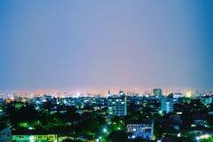 Vista panorâmica da paisagem urbana em Ásia foto de stock royalty free