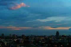 Vista panorâmica da paisagem urbana em Ásia imagem de stock royalty free