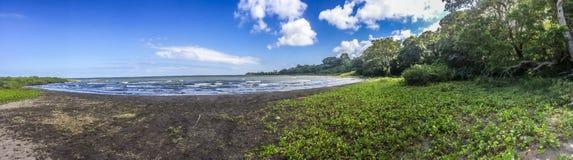 Vista panorâmica da praia de Concepción foto de stock royalty free