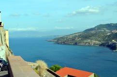 Vista panorâmica da praia e do mar de cristal de Sardinia Imagem de Stock
