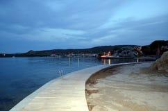 Vista panorâmica da praia e do mar de cristal de Sardinia Fotografia de Stock Royalty Free