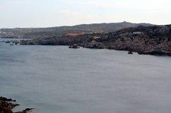 Vista panorâmica da praia e do mar de cristal de Sardinia Imagens de Stock