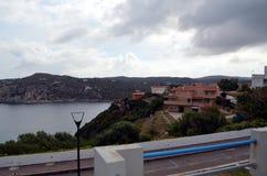 Vista panorâmica da praia e do mar de cristal de Sardinia Imagens de Stock Royalty Free