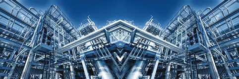Vista panorâmica da refinaria de petróleo Imagem de Stock Royalty Free