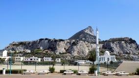 Vista panorâmica da rocha de Gibraltar Fotografia de Stock