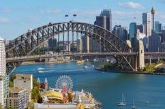 Vista panorâmica da skyline de Sydney fotografia de stock royalty free