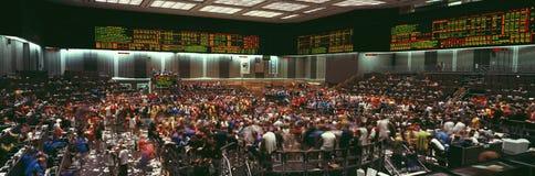Vista panorâmica da troca de Chicago Mercantile fotos de stock