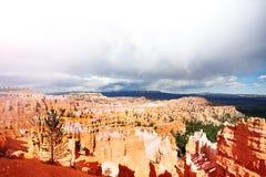 Vista panorâmica das montanhas, Bruce Canyon, Utá fotografia de stock
