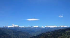 Vista panorâmica das montanhas no parque nacional do EL Cocuy, Colômbia foto de stock