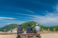 Vista panorâmica das montanhas no verão Fotos de Stock Royalty Free