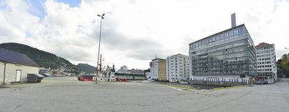 Vista panorâmica das ruas de Oslo Fotografia de Stock Royalty Free