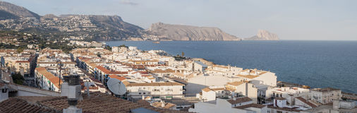 Vista panorâmica de Altea, Espanha Fotografia de Stock