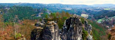 Vista panorâmica de Bastei germany fotos de stock royalty free