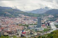 Vista panorâmica de Bilbao Foto de Stock Royalty Free