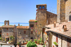 Vista panorâmica de Bolsena. Lazio. Itália. Foto de Stock Royalty Free